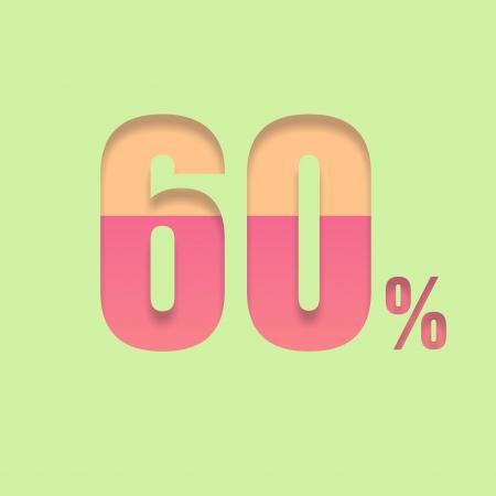 pal: Sixty percent symbol