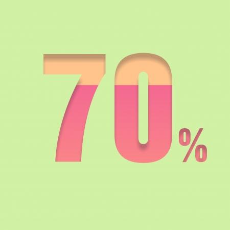 70: Seventy percent symbol