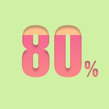 pal: Eighty percent symbol