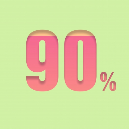 ninety: Ninety percent symbol