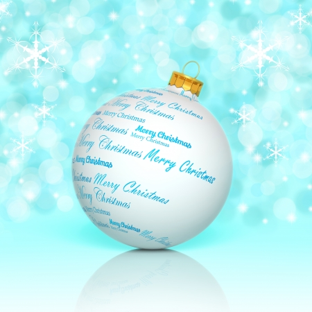merry christmas words forming a christmas ball stock photo picture and royalty free image image 22291931