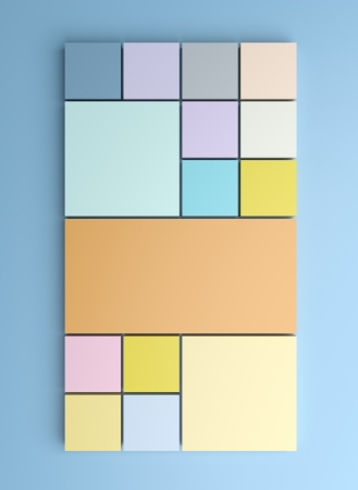 Square background with pastel colors Stock Photo - 22291960
