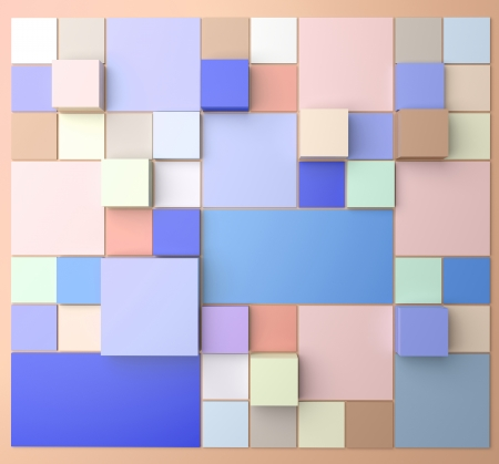 pal: Square background with pastel colors Stock Photo