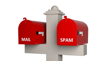 3D model of classic double mailbox photo