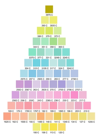 Christmas tree color palette photo
