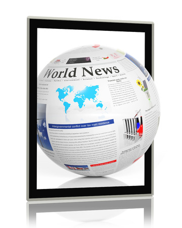 Digital news concept with tablet photo