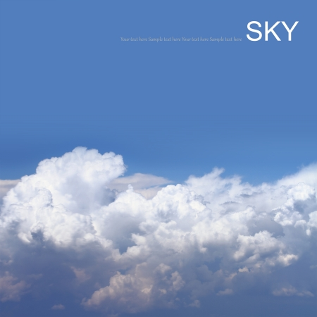 troposphere: Blue sky with clouds, air shot.
