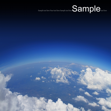 troposphere: Curvature of the Earth,aerial shot
