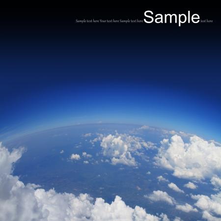 ozon: Krümmung der Erde, Luftaufnahme