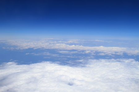 nimbi: Aerial photography of atmosphere with clouds Stock Photo