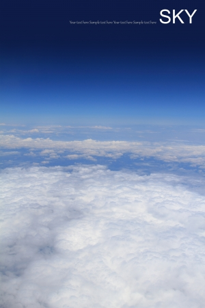 troposphere: Aerial photography of atmosphere with clouds Stock Photo