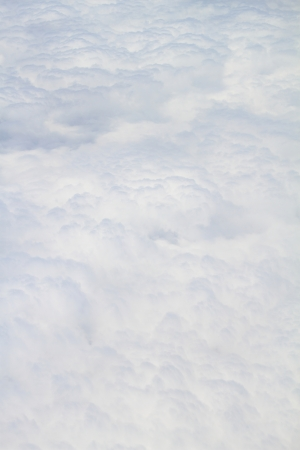 troposphere: White fluffy clouds full size close up background