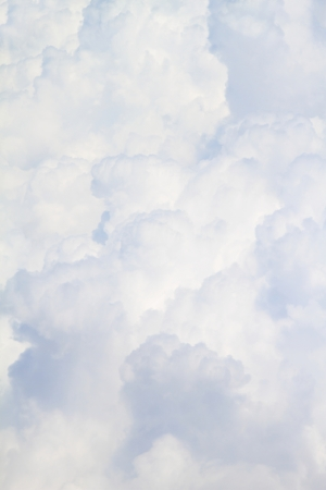 nimbi: White fluffy clouds full size close up background