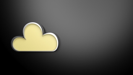 nebulosity: Weather forecast background, with 3d cloud
