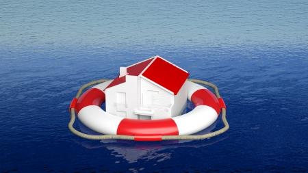 야외 바다에서 생활 벨트 하우스