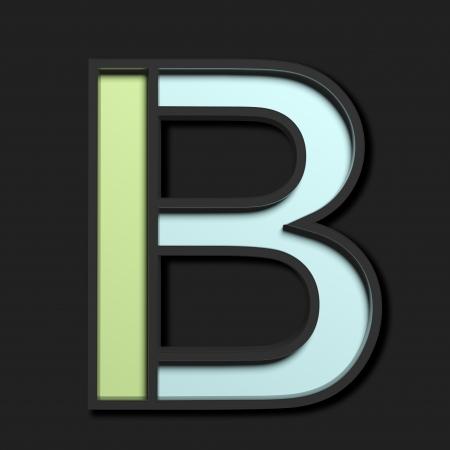 Pastel uppercase letter