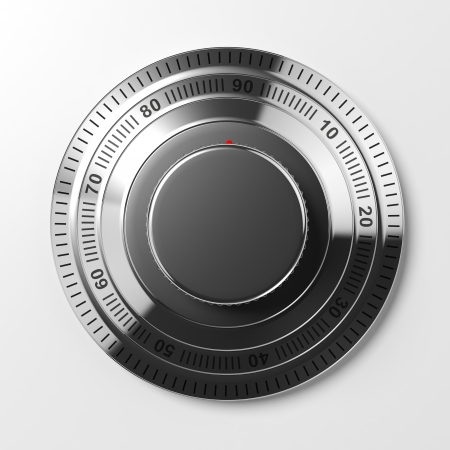 combination: Combination lock isolated on white