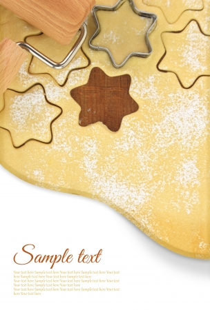 Making star cookies with cookie cutter  photo