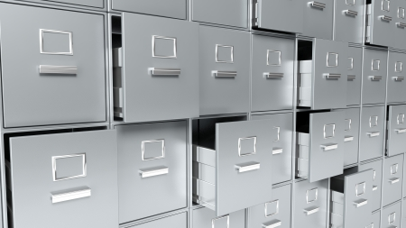 Archive cabinets 3D render photo