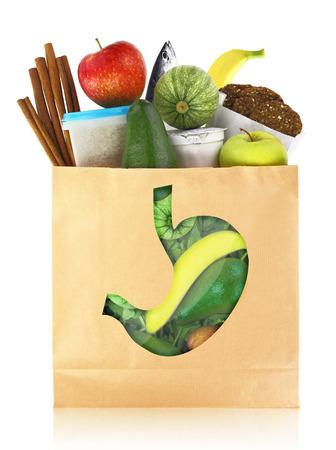 De beste voeding voor een gezonde maag Stockfoto