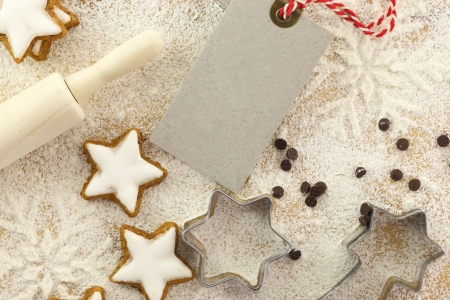 pastry cutter: Winter time baking creative background