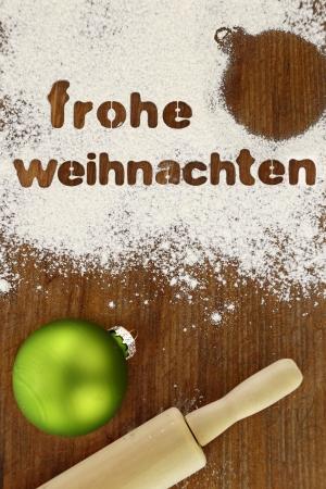 Frohe weihnachten baking preparation background  photo