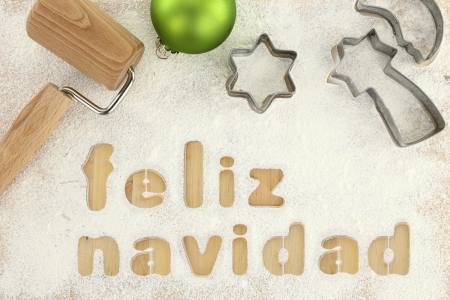 Feliz navidad baking preparation background photo