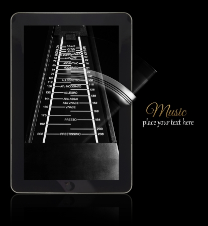 Online music metronome on black with copy-space Stock Photo - 24744300