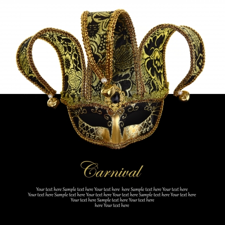 Vintage venetian carnival mask with copy-space photo