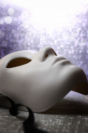 White mask with glittering  photo