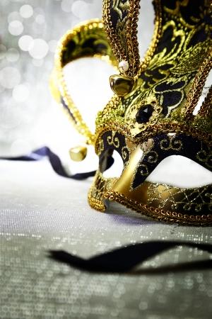 Vintage venetian carnival mask with glittering