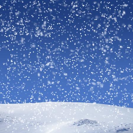 neige qui tombe: Fond d'hiver avec des chutes de neige Banque d'images