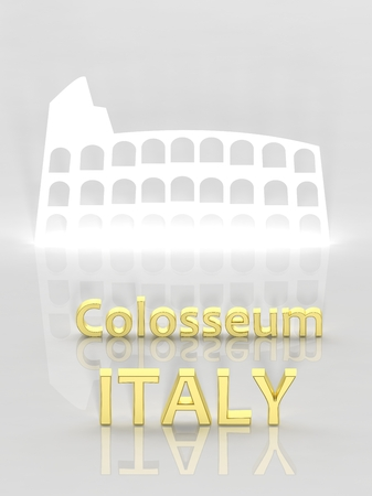 roman empire: Elegant background with Colosseum and Italy text