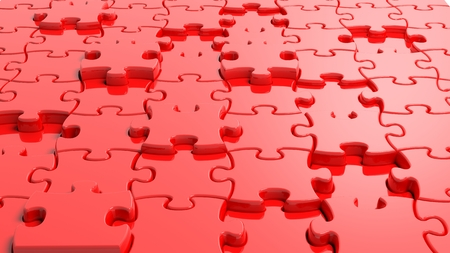 ingenuity: 3D blank red puzzle background