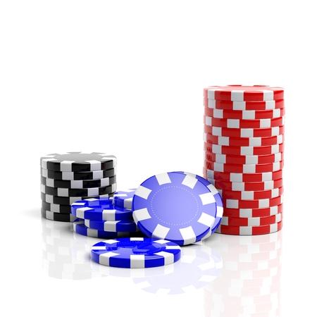 roulette: Controlli di gioco del casino Belle isolato su sfondo bianco