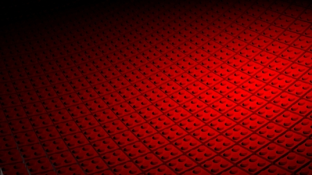 3D minimal red background made of lego blocks photo