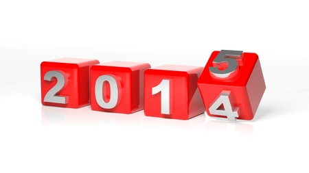 New year 2015 3d cubes Stock Photo - 26539005