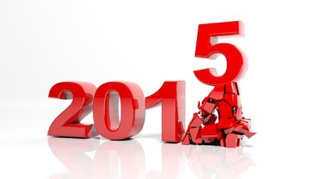 turns of the year: El nuevo a�o 2015 est� llegando Foto de archivo