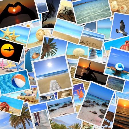 agencia de viajes: Colección de fotos de las vacaciones de verano