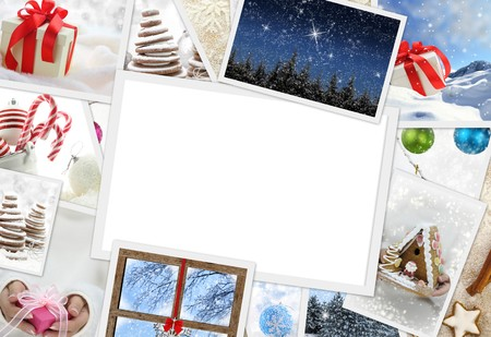 Collection of Christmas photos with copy space photo