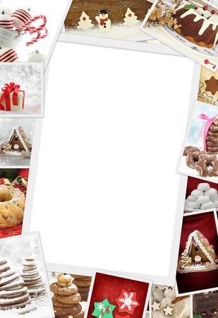 weihnachtskuchen: Sammlung von Weihnachts-Fotos von Konfekt mit Kopie Platz