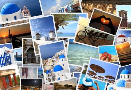 agence de voyage: Collection d'îles grecques les photos Banque d'images