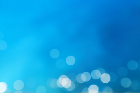 Blue blur abstract background with bokeh  photo