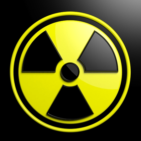 radioisotope: Nuclear warning sign background