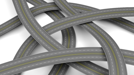 urbanization: Abstract 3d illustration of multiple crossroads Stock Photo