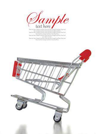 web shopping: Empty shopping cart isolated on white background