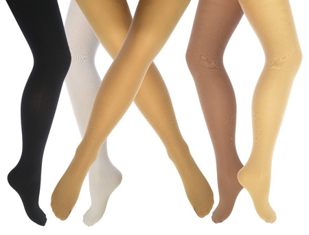 Womens legs in various tights
