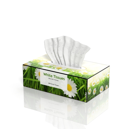 tissues: 3D Tissues paper box isolated on white
