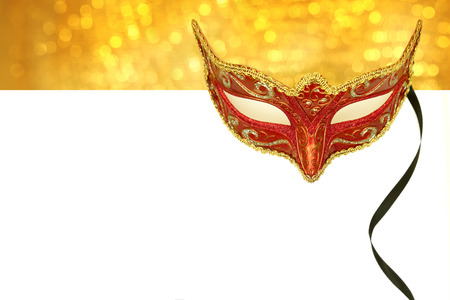 opera: Vintage carnival mask with copy space