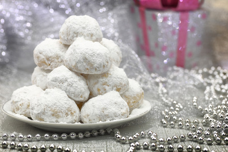christmas baker's: Traditional Christmas cookies with powdered sugar